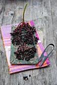 Elderberries on a platter