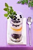 Blueberry yogurt with honey