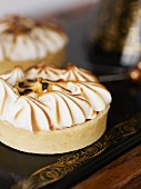 A vanilla meringue tart