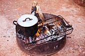 Cooking pot on the grill (Arabia)
