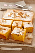 Pumpkin and walnut cake