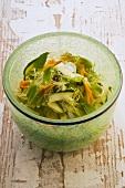 Zucchini-frisee salad