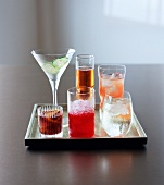Party drinks on a tray