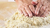 Kneading shortbread dough