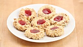 Thumbprint cookies (nut biscuits with jam)