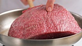 Sealing joint of beef on both sides