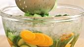 Gemüse blanchieren