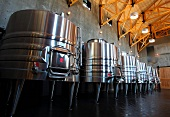 Stainless steel fermentation tanks (RdV Vineyards, Delaplane, Virginia, USA)