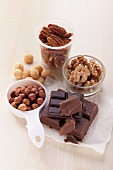 Assorted nuts and chocolate