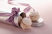 Macarons filled with chestnut cream