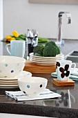 Crockery and kitchen utensils