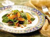 Fresh Spinach, Orange and Bacon Salad