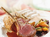 Rack of Lamb Chops with Peach Relish