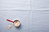 Long grain rice in saucepan