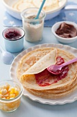 Pancakes with sweet topping