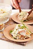 Chicken salad and white cabbage salad