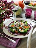 Salad with pumpkin slices