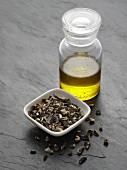 Chopped comfrey root and comfrey oil