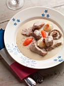 Blanquette de veau (veal fricassee, France)