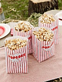 Bags of popcorn at a Cowboy and Indian party