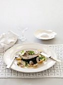 Snapper with vongole and chervil sauce