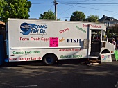 'Food Truck' (street kitchen) selling seafood in Portland, Oregon
