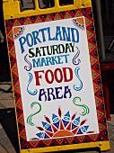 Market sign in Portland, Oregon