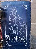 A sign for Stumptown coffee roaster (Portland, Oregon)