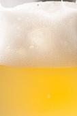 Ein Glas helles Bier mit Schaumkrone (Ausschnitt)