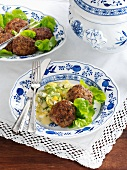 North German minced meat patties