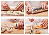Preparing fried tramezzini