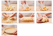 Preparing sweet shortcrust pastry