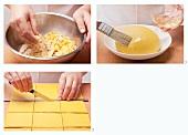 Making samosa pastry