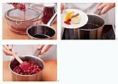 Cranberry-Ragout zubereiten