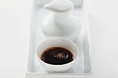 Small bowl of soy sauce