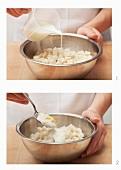 Preparing horseradish bread sauce