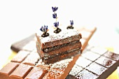Chocolate and lavender cake