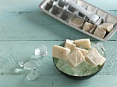 Yoghurt ice cubes for dogs