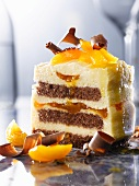 Apricot and vanilla cake with chocolate sponge