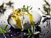 Goat's cream cheese with lavender