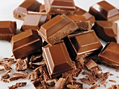 Lots of chocolate pieces