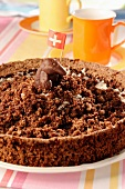 Mole cake (chocolate and banana molehill cake)