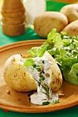 Potatoes with herb quark (Palatinate, Germany)