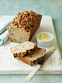 Pear and walnut bread with butter