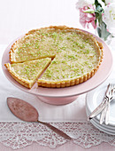 A lime and coconut tart