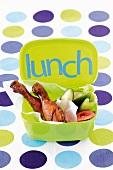 Lunchbox with chicken and vegetables