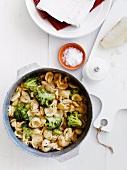 Orecchiette pasta with broccoli, chilli and pecorino