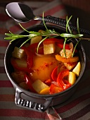 Potato stew with peppers and rosemary