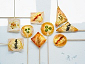 Spicy goat's cheese appetisers