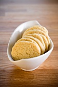 Shortbread biscuit in a bowl